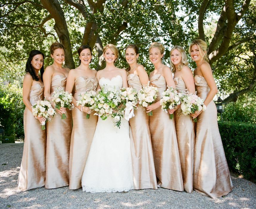 Can You Wear Cream To A Wedding: Cream / Champagne Bridesmaid Dresses